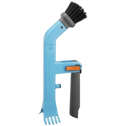 GARDENA Dachrinnenreiniger »Combisystem«, Stiellänge: 30 cm, Kunststoff, grau/blau