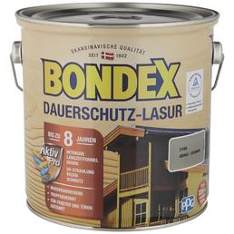 BONDEX Dauerschutzlasur, grau, lasierend, 2.5l