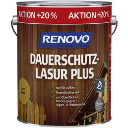 RENOVO Dauerschutzlasur »Plus« für außen, 4,8 l, Kiefer, seidenglänzend