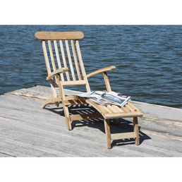 GARDEN PLEASURE Deckchair »Java«, Höhe: 81  cm, Teakholz