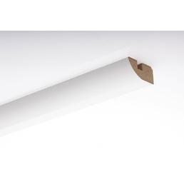 MODERNA Deckenabschlussleiste, Uni weiß, Holz/MDF, LxHxT: 238 x 3,8 x 1,6 cm