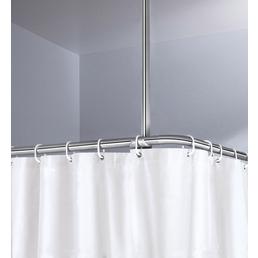 KLEINE WOLKE Deckenhalter-Stange, 60cm, silberfarben/chromfarben
