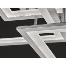wofi® Deckenleuchte silberfarben 33 W, 3-flammig, dimmbar, inkl. Leuchtmittel in warmweiß