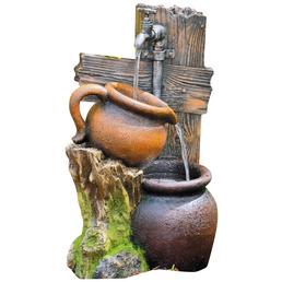 GRANIMEX Dekobrunnen »Min«, steingrau, inkl. Pumpe