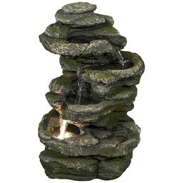 GRANIMEX Dekobrunnen »Tao«, lavagrau, inkl. Pumpe