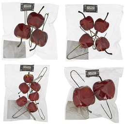 CASAYA Dekostecker, Apfel, rot, Kunststoff, 2/3/4/6 Stück