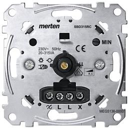 merten Dimmer, Metall, Silber, 315 W