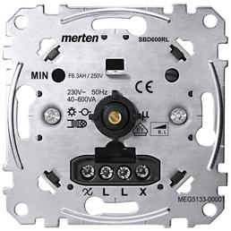 merten Dimmer, Metall, Silber, 600 W