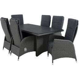 CASAYA Diningset »Jardel Earth Grey«, 6 Sitzplätze, inkl. Auflagen