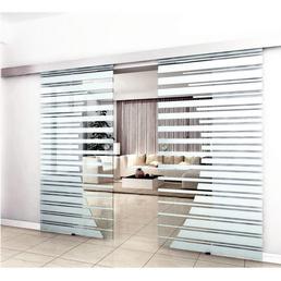 HOME DELUXE Doppel-Glasschiebetür, BxH: je 77,5x205 cm, mit Muschelgriff