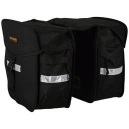 PROPHETE Doppel-Packtasche, Polyester, schwarz