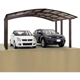 XIMAX Doppelcarport »Portoforte«, Außenmaß BxT: 542,3 x 495,4 cm, braun
