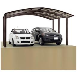 XIMAX Doppelcarport »Portoforte«, BxTxH: 542,3  x 495,4  x 298,1  cm, braun