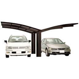 XIMAX Doppelcarport »Portoforte«, BxTxH: 543  x 495,4  x 298  cm, braun