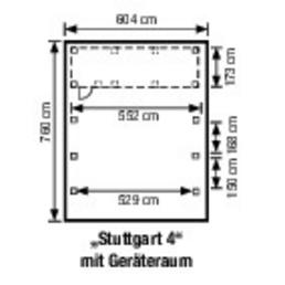 MR. GARDENER Doppelcarport »Stuttgart 4«, natur