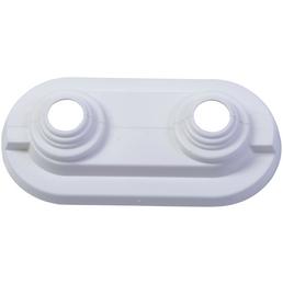 CORNAT Doppelrosette, Kunststoff, Ø 18 mm