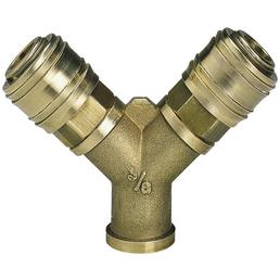 EINHELL Druckluftverteiler, Metall, goldfarben