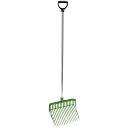 Dunggabel, für Stall und Hof, aus Kunststoff / Aluminium, grün
