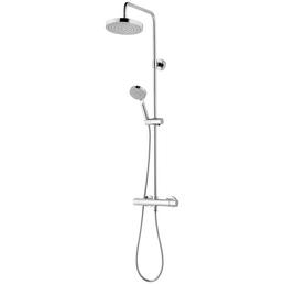 SCHULTE Duschsystem »DuschMaster Rain III Modern«, Höhe: 110,4 cm, chromfarben