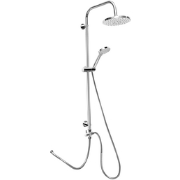 CORNAT Duschsystem »ROUND NEO«, Höhe: 97 cm, verchromt/grau