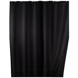 WENKO Duschvorhang »Anti-Schimmel«, BxH: 200 x 180 cm, Uni, schwarz