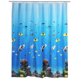 WENKO Duschvorhang »Ocean«, BxH: 180 x 200 cm, Unterwasserwelt, mehrfarbig