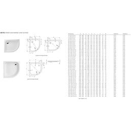 BETTE Duschwanne »BETTECORNER«, BxT: 90 x 90 cm, weiß