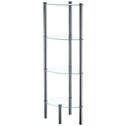 KELA Eckregal »Ole«, BxH: 28,5 x 107 cm, Metall/Glas