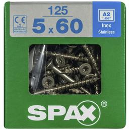 SPAX Edelstahlschraube, T-STAR plus, 125 Stk., 5 x 60 mm