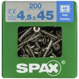 SPAX Edelstahlschraube, T-STAR plus, 200 Stk., 4,5 x 45 mm