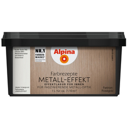 ALPINA Effektfarbe »Farbrezepte«, in Metall-Optik, rosegoldfarben, 1 l