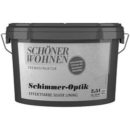 SCHÖNER WOHNEN FARBE Effektfarbe »Trendstruktur«, in Schimmer-Optik, silver_lining, 2,5 l