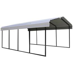 SHELTERLOGIC Einzelcarport »Neapel«, Außenmaß BxT: 360 x 602 cm, schwarz|grau
