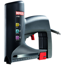 NOVUS Elektro-Tacker »J-105«, Für Klammerbreite: 11,3 mm, BxHxL 5,6 cm x 17,2 cm x 19,2 cm