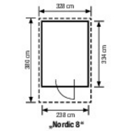 gartenpro elementhaus nordic b x t 328 x 380 cm. Black Bedroom Furniture Sets. Home Design Ideas
