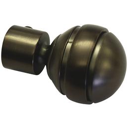 GARDINIA Endknopf, Chicago, Kugel, 20 mm, 2 Stück, Bronze
