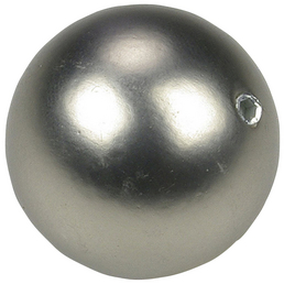 LIEDECO Endstück, Bologna, Kugel, 16 mm, 2 Stück, Silber