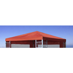 GRASEKAMP Ersatzdach, BxHxT: 300 x 19 x 300 cm, terrakottafarben, Polyester