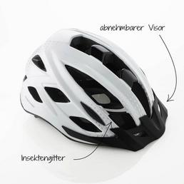 FISCHER FAHRRAEDER Fahrradhelm, Urban Lano, S/M, Weiß, Klickverschluss