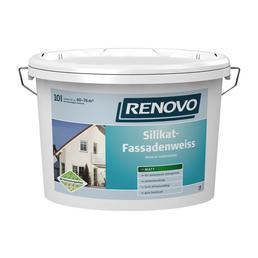 RENOVO Fassadenfarbe, ca. 6 - 7,6 m²/l, weiß, matt