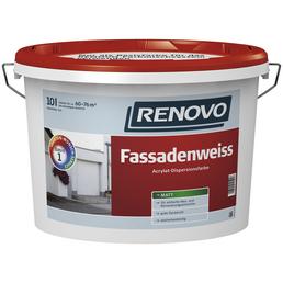 RENOVO Fassadenfarben, ca. 6 - 7,6 m²/l, weiß, matt, 15 l