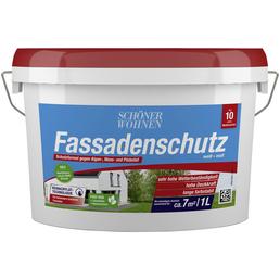 SCHÖNER WOHNEN FARBE Fassadenschutzfarbe, weiß, matt, 1 l