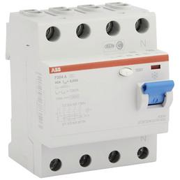 ABB Fehlerstromschutzschalter, 4-polig, Grau, 40 A