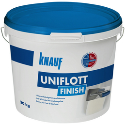 KNAUF Feinspachtelmasse, Uniflott Finish, Weiß, 20 kg