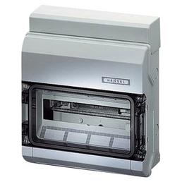 HENSEL Feuchtraum-Kleinverteiler, 1-reihig, 12 Module, Kunststoff, Grau