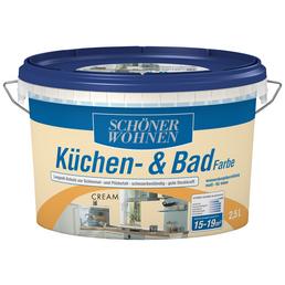 SCHÖNER WOHNEN FARBE Feuchtraumfarbe »Küchen- und Badfarbe«, ca. 17 m² m² f