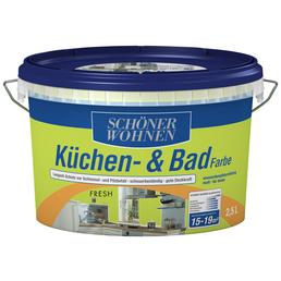 SCHÖNER WOHNEN FARBE Feuchtraumfarbe »Küchen- und Badfarbe«, hellgruen, 2,5 l