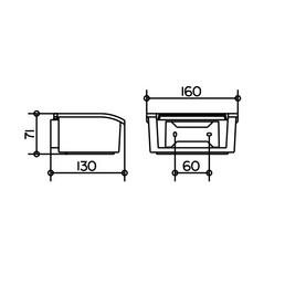 KEUCO Feuchttücherbox, Höhe: 7,1  cm, weiss/chromfarben