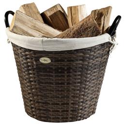HABAU Feuerholzkorb, Braun | Beige, Rund, Durchmesser: 48 cm