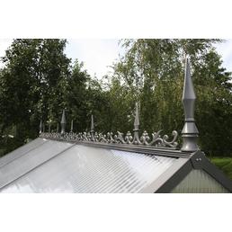 KGT Firstverzierung für Gewächshäuser, BxLxH: 10 x 400 x 30 cm, Aluminium